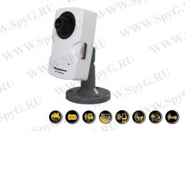 SLC-83M/P IP Камера, CMOS сенсор, 1.3M, 2х стороннее аудио, сигнальный вход/выход (I/O), слот SD карты, PoE, DC12V, объектив 4.0