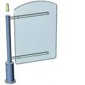 Praktika Калитка с магнитной разблокировкой (орг. стекло) 600 мм