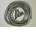 Органайзер  для проводов с инструментом для укладки, ID-15mm, 2м, пластик, серый