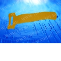 Стяжка-липучка многоразовая 150*12 /10 шт (желтая)