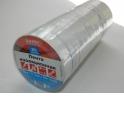 Изолента (лента изоляционная) 19мм х 20м, белая, 10шт