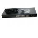 """NS1024S26P Коммутатор 19"""", 26 портовый, 24 10/100Mbit порта, 1 Uplink 1Gbit порт, 1 комбинированный порт 1000Base-T/SFP слот, Vo"""