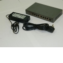 NS1082SC9P PoE, коммутатор, настольный, 9 портовый, 8 PoE 802.3af 100Mbit портов, 15.4W, 1 SFP слот, кабель питания ЕВРО, серый