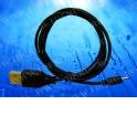 Кабель соед. шт. USB для зарядки телефонов Nokia 2.0, 1м, USB 1.1 черный