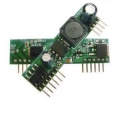 CLGB-48-12 PoE, сплиттер (PD), 48V 12W (12V), Тип 02, без корпуса, 180° контакт, зеленый