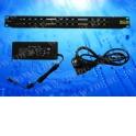 MTP12 PoE, патч-панель, 12портов, 1U, кабель питания ЕВРО, черный