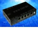 NS1045P PoE, коммутатор, настольный, 5 портовый, 4 PoE 802.3af 100Mbit порта, 15.4W, 1 Uplink 100Mbit порт, кабель питания ЕВРО,
