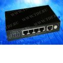 NS104GT5P PoE, коммутатор, настольный, 5 портовый, 4 PoE 802.3at 1Gbit порта, 25W, 1 Uplink 1Gbit порт, кабель питания ЕВРО, чер