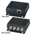 IP01H Коммутатор Ethernet (4 входа / 1 выход) для объединения IP-сигналов от 4-х устройств, удаленных на расстояние до 200 м, в