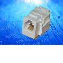 Модуль Keystone неэкранированный, RJ-12/RJ-11 (6p6c/6p4c), 110 тип, под инструмент, универсальный, KE, белый