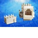 Модуль Keystone неэкранированный, RJ-11 (6p4c), 110/Krone тип, под инструмент, белый