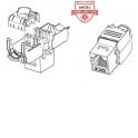 Модуль Keystone экранированный, RJ-45, cat.5e, 180°, 110/Krone тип, без инструмента, KE, металлик, Netko СКС